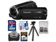 Panasonic HC-W570 Twin Recording HD Wi-Fi Video Camera Camcorder with 32GB Card + Case + Flex Tripod + Accessory Kit