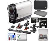 Sony Action Cam HDR-AS200V Wi-Fi HD Video Camera Camcorder with 32GB Card + 2 Helmet, Flat & Handlebar Bike Mounts + Battery + Case + Kit