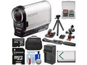 Sony Action Cam HDR-AS200V Wi-Fi HD Video Camera Camcorder with 64GB Card + 2 Helmet & Flat Surface Mounts + Battery + Charger + Case + Tripod + Kit