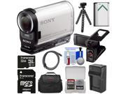 Sony Action Cam HDR-AS200V Wi-Fi HD Video Camera Camcorder with AKA-LU1 LCD Cradle + 32GB Card + Battery + Charger + Case + Tripod + Kit