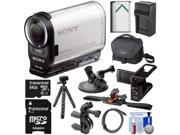 Sony Action Cam HDR-AS200V Wi-Fi HD Video Camera Camcorder with LCD + 64GB Card + Helmet, Handlebar & Suction Cup Mounts + Battery + Charger + Kit