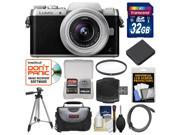 Panasonic Lumix DMC-GF7 Wi-Fi Digital Camera & 12-32mm Lens (Black/Silver) with 32GB Card + Case + Battery + Tripod + Filter + Kit