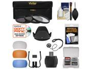 Essentials Bundle for Nikon D5200, D5300, D7100 DSLR Camera & 18-140mm VR Lens with 3 UV/CPL/ND8 Filters + Lens Hood + 4 Pop-Up Flash Diffusers + Reader + Kit
