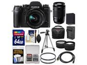 Fujifilm X-T1 Weather Resistant Digital Camera & 18-55mm XF Lens with 50-230mm OIS Lens + 64GB Card + Case + Battery/Charger + Tripod + Filters + Kit