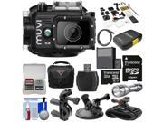 Veho Muvi K2 Wi-Fi Waterproof HD Video Action Camera Camcorder & 100m Underwater Housing with 32GB Card + Suction Cup, Handlebar Bike & Wrist Mounts + Battery + LED + Case + Kit