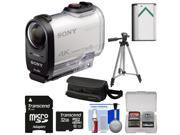 Sony Action Cam FDR-X1000V Wi-Fi 4K HD Video Camera Camcorder with 32GB Card + Battery + Case + Tripod + Kit