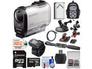 Sony Action Cam FDR-X1000VR Wi-Fi 4K HD Video Camera Camcorder & Live View Remote with 64GB Card + 2 Helmet, Flat & Suction Cup Mounts + Battery + Backpack + Accessory Kit