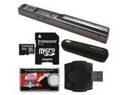 VuPoint Magic Wand II Portable Photo & Document Scanner with Wi-Fi (Pewter) with 32GB Card & Reader + Case + Cloth