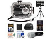 Intova Sport 10K Waterproof Digital Camera with 140' Underwater Housing with 32GB Card + Batteries & Charger + Case + Flex Tripod + LED Torch + Accessory Kit