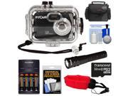Intova Sport 10K Waterproof Digital Camera with 140' Underwater Housing with 32GB Card + Batteries & Charger + Case + LED Torch + Floating Strap + Accessory Kit