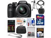 Fujifilm FinePix S9900W Wi-Fi Digital Camera with 32GB Card + Batteries & Charger + Case + Tripod + Sling Strap + Kit