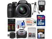 Fujifilm FinePix S9900W Wi-Fi Digital Camera with 32GB Card + Batteries & Charger + Case + Tripod + Flash Kit