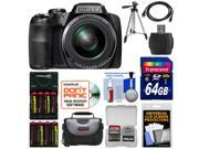 Fujifilm FinePix S9900W Wi-Fi Digital Camera with 64GB Card + Batteries & Charger + Case + Tripod + Kit