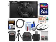 Fujifilm XQ2 Wi-Fi Digital Camera (Black) with 64GB Card + Case + Flex Tripod + HDMI Cable + Sling Strap + Kit