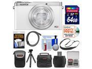 Fujifilm XQ2 Wi-Fi Digital Camera (White) with 64GB Card + Case + Flex Tripod + HDMI Cable + Sling Strap + Kit