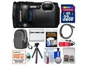Olympus Tough TG-860 iHS Wi-Fi GPS Shock & Waterproof Digital Camera (Black) with 32GB Card + Case + Battery + Flex Tripod + HDMI Cable + Float Strap + Kit