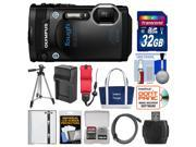 Olympus Tough TG-860 iHS Wi-Fi GPS Shock & Waterproof Digital Camera (Black) with 32GB Card + Case + Battery/Charger + Tripod + HDMI Cable + Float Strap Kit