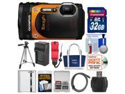 Olympus Tough TG-860 iHS Wi-Fi GPS Shock & Waterproof Digital Camera (Orange) with 32GB Card + Case + Battery/Charger + Tripod + HDMI Cable + Float Strap Kit
