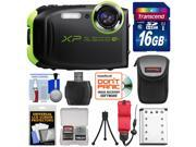 Fujifilm FinePix XP80 Shock & Waterproof Wi-Fi Digital Camera (Graphite Black) with 16GB Card + Battery + Case + Strap + Kit