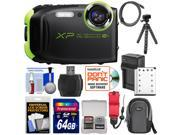 Fujifilm FinePix XP80 Shock & Waterproof Wi-Fi Digital Camera (Graphite Black) with 64GB Card + Battery & Charger + Case + Flex Tripod + Strap + Kit