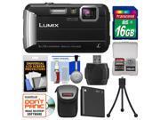 Panasonic Lumix DMC-TS30 Tough Shock & Waterproof Digital Camera (Black) with 16GB Card + Case + Battery + Flex Tripod + Kit