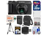 Olympus Stylus SH-2 Wi-Fi Digital Camera (Black) with 32GB Card + Case + Battery & Charger + Tripod + Kit