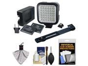 Vidpro LED Digital Photo & Video Camcorder Light with Batteries, Charger and Bracket with Cleaning & Accessory Kit