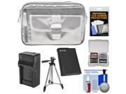 Nikon 1 Series & Coolpix Deluxe Digital Camera Case (Gray) with EN-EL23 + Charger + Tripod + Kit