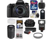 Canon EOS Rebel T6s Wi-Fi Digital SLR Camera & EF-S 18-135mm IS STM Lens with 55-250mm IS STM Lens + 32GB Card + Case + Strap + Filters + Flash + Kit