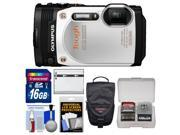 Olympus Tough TG-860 iHS Wi-Fi GPS Shock & Waterproof Digital Camera (White) with 16GB Card + Case + Battery + Kit