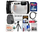 Olympus Tough TG-860 iHS Wi-Fi GPS Shock & Waterproof Digital Camera (White) with 32GB Card + Case + Battery + Flex Tripod + HDMI Cable + Float Strap + Kit