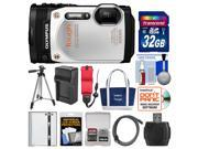 Olympus Tough TG-860 iHS Wi-Fi GPS Shock & Waterproof Digital Camera (White) with 32GB Card + Case + Battery/Charger + Tripod + HDMI Cable + Float Strap Kit