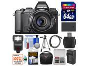 Olympus Stylus 1s Wi-Fi Digital Camera with 64GB Card + Case + Flash + Battery + Charger + Tripod + HDMI Cable + Kit