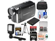 Bell & Howell DV30HD 1080p HD Video Camera Camcorder (Black) with 16GB Card + Battery + Case + Tripod + LED Video Light + Kit