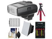 Bower SFD550 Dedicated Digital Flash (for Sony Alpha) with Batteries & Charger + Soft Box Diffuser + Flex Tripod + Kit