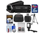 Panasonic HC-W570 Twin Recording HD Wi-Fi Video Camera Camcorder with 32GB Card + Case + LED Light + Tripod + Kit