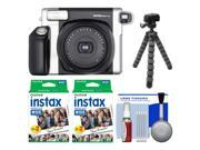 Fujifilm Instax Wide 300 Instant Film Camera with 40 Film Prints  + Flex Tripod Kit