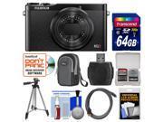 Fujifilm XQ2 Wi-Fi Digital Camera (Black) with 64GB Card + Case + Tripod + Kit