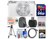Fujifilm XQ2 Wi-Fi Digital Camera (White) with 64GB Card + Case + Tripod + Kit