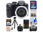 Kodak PixPro AZ365 Astro Zoom Digital Camera with 32GB Card + Case + Batteries/Charger + Flex Tripod + Kit
