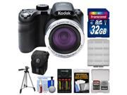 Kodak PixPro AZ365 Astro Zoom Digital Camera with 32GB Card + Case + Batteries/Charger + Tripod + Kit