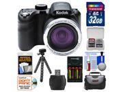 Kodak PixPro AZ421 Astro Zoom Digital Camera with 32GB Card + Case + Batteries/Charger + Flex Tripod + Kit