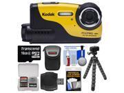 Kodak PixPro WP1 Shock & Waterproof Digital Camera with 16GB Card + Case + Flex Tripod + Accessory Kit