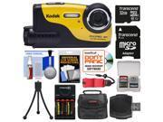 Kodak PixPro WP1 Shock & Waterproof Digital Camera with 32GB Card + Case + Batteries & Charger + Flex Tripod + Float Strap + Kit