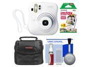 Fujifilm Instax Mini 25 Instant Film Camera (White) with 20 Twin Prints + Case + Kit
