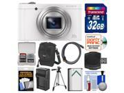 Sony Cyber-Shot DSC-WX500 Wi-Fi Digital Camera (White) with 32GB Card + Case + Battery & Charger + Tripod + Kit