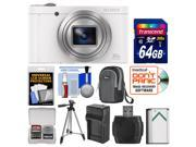 Sony Cyber-Shot DSC-WX500 Wi-Fi Digital Camera (White) with 64GB Card + Case + Battery & Charger + Tripod + Kit