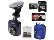 Coleman TourHD CDV100 Car Dashboard HD Video Recorder Camera with 32GB Card + Case + Kit