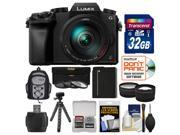 Panasonic Lumix DMC-G7 4K Wi-Fi Digital Camera & 14-140mm Lens with 32GB Card + Backpack + Battery + Flex Tripod + Filters + Tele/Wide Lens Kit