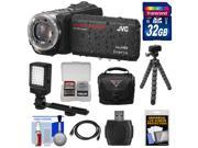 JVC Everio GZ-R450 Quad Proof Full HD Digital Video Camera Camcorder with 32GB Card + Case + Flex Tripod + LED Light + Kit